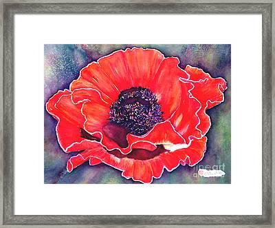 Red Poppy Framed Print by Norma Boeckler