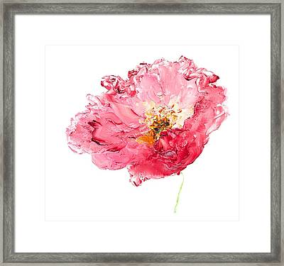 Red Poppy Painting Framed Print by Jan Matson