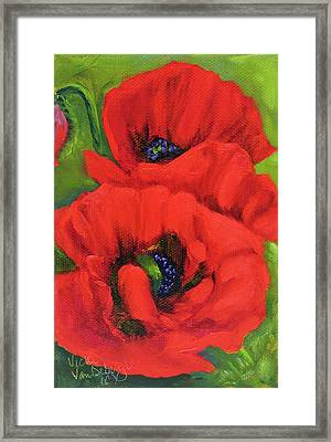 Red Poppy Framed Print