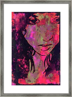 Framed Print featuring the photograph Red Portrait by Jeff Gettis