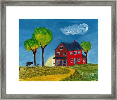Red Praire House Framed Print