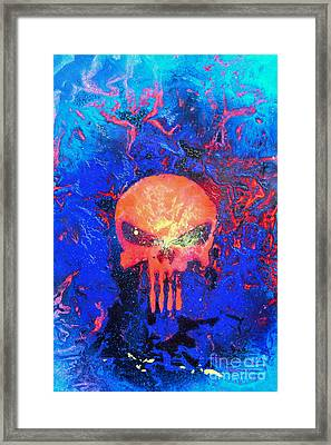 Red Punish Framed Print by Justin Moore