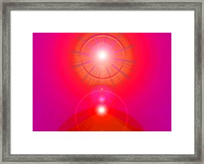 Red-pyramid-light Framed Print