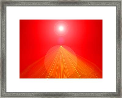 Red-pyramid Framed Print