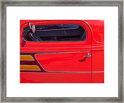 Red Racer Framed Print