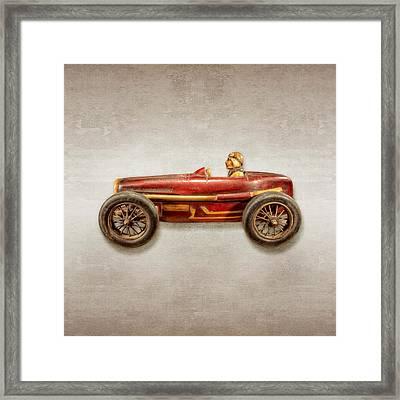 Red Racer Left Framed Print by YoPedro