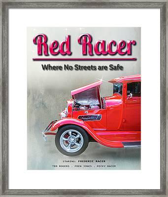 Red Racer Movie Poster Framed Print