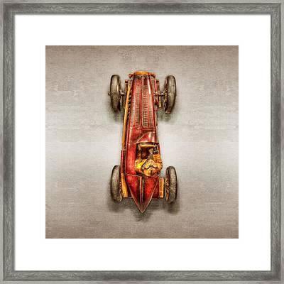 Red Racer Top Framed Print