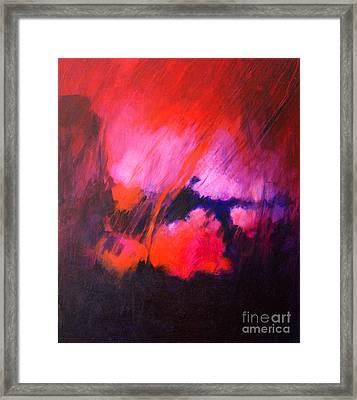 Red Rain Framed Print by John Francis