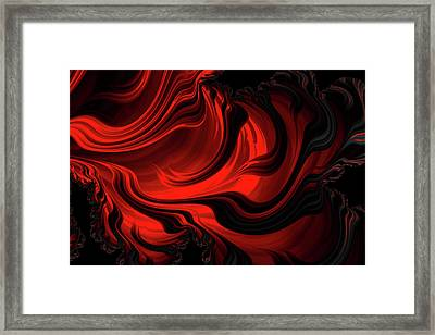 Red Rapture Abstract Framed Print