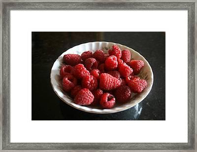 Red Raspberries Framed Print