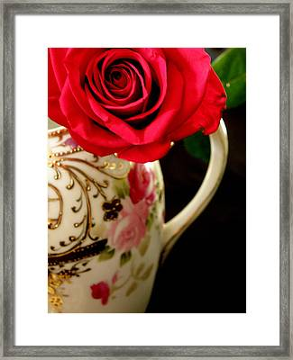 Red Red Rose Framed Print by Lainie Wrightson