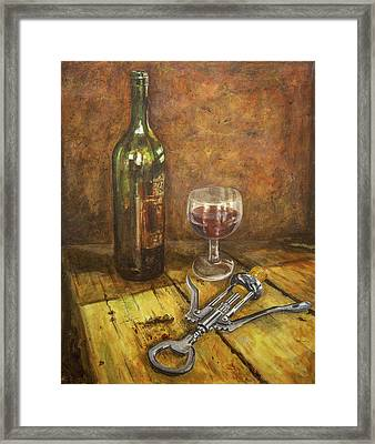 Red Red Wine Framed Print by Marty Garland