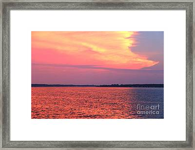 Red Reflection  Framed Print by Yumi Johnson