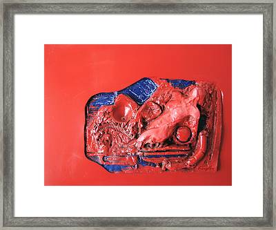 Red Relief Framed Print by Chuck Kugler