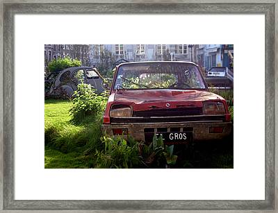 Red Renault Framed Print by Jez C Self