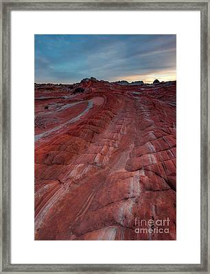 Red Ribbon Sunset Framed Print
