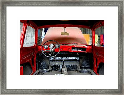 Red Ride Framed Print by Jez C Self