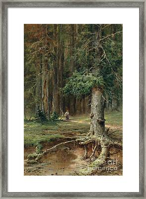 Red Riding Hood  Framed Print by Celestial Images