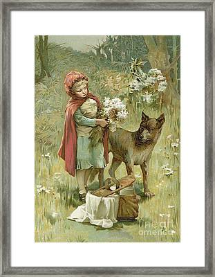 Red Riding Hood Framed Print by John Lawson