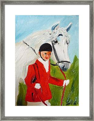 Red Riding Jacket Framed Print by Irit Bourla