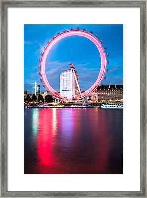 Red Ring On The Embankment Framed Print by Matthew Rattcliff