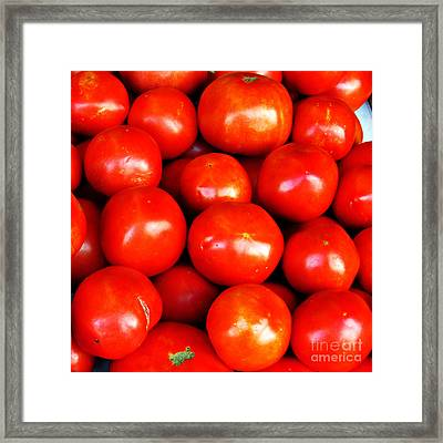 Red Ripe And Ready Framed Print by Steve C Heckman