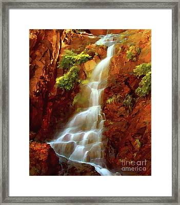 Red River Falls Framed Print by Peter Piatt