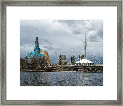 Red River At Winnipeg Framed Print