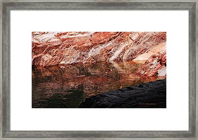 Red River Framed Print by Donna Blackhall