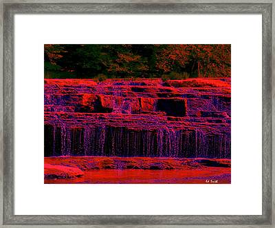 Red River Falls Framed Print by Ed Smith