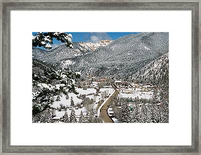 Red River In Winter Framed Print