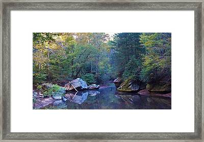 Red River Morning Framed Print