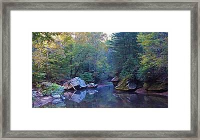 Red River Morning Framed Print