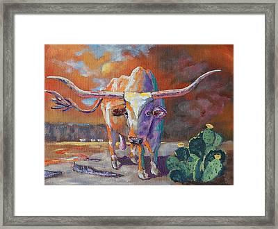 Red River Showdown Framed Print by J P Childress
