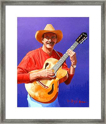 Red River Troubador Framed Print