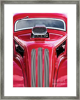 Framed Print featuring the photograph Red Roadster by Tim Gainey