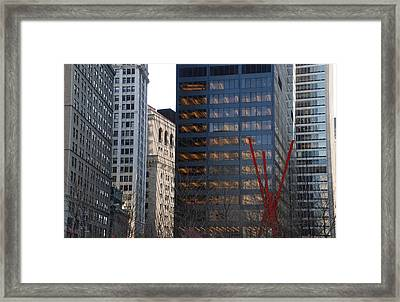RED Framed Print by Rob Hans
