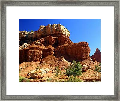 Red Rock 4 Framed Print by Marty Koch