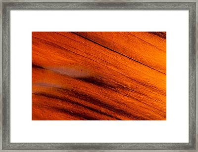 Red Rock Abstract 2 Framed Print by Az Jackson