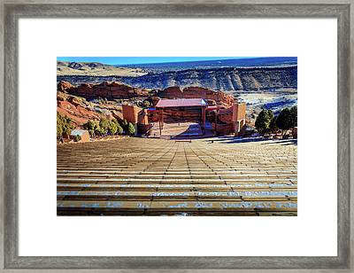 Red Rock Amphitheater Framed Print by Barry Jones