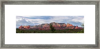 Red Rock And Blue Skies Framed Print by Ron McGinnis