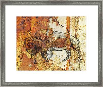 Red Rock Bison Framed Print