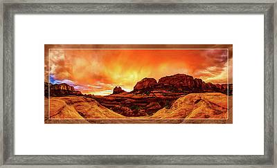 Red Rock Blaze Framed Print by ABeautifulSky Photography