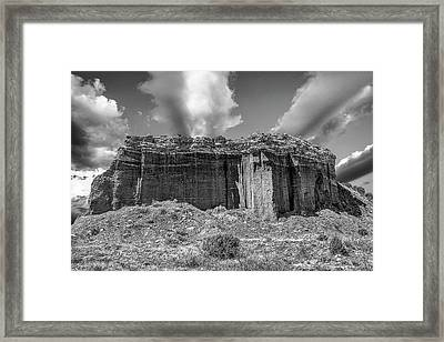 Red Rock Bw Framed Print