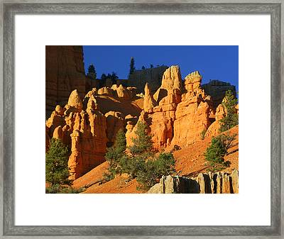 Red Rock Canoyon At Sunset Framed Print by Marty Koch