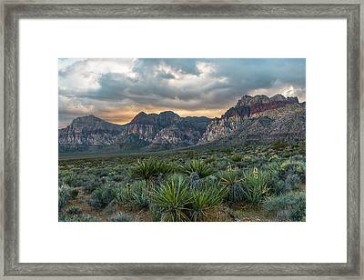 Framed Print featuring the photograph Red Rock Canyon by Chuck Jason
