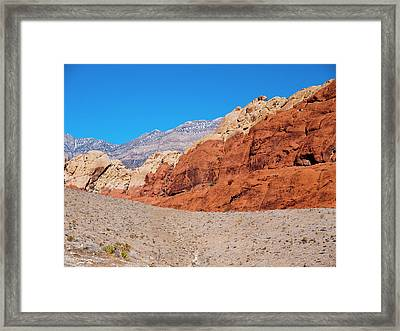 Red Rock Canyon Framed Print by Rae Tucker