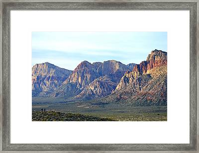 Framed Print featuring the photograph Red Rock Canyon - Scale by Glenn McCarthy Art and Photography