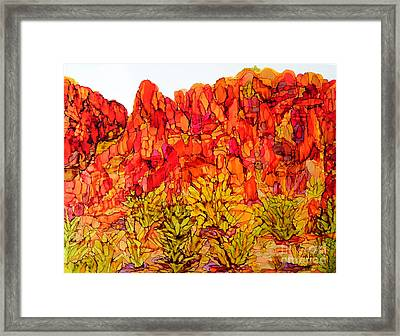 Red Rock Canyon Veiw From The Loop Framed Print by Vicki  Housel